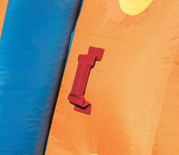 Bestway H2OGO! Wasseroark Turbo Splash, Planschbecken mit Wasserrutsche und Kletterwand, 365x320x275 cm - 79