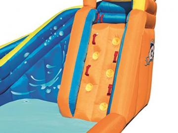 Bestway H2OGO! Wasseroark Turbo Splash, Planschbecken mit Wasserrutsche und Kletterwand, 365x320x275 cm - 80