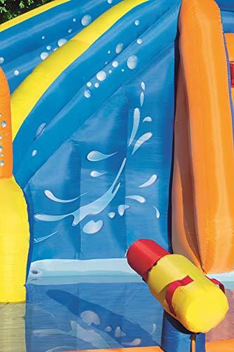 Bestway H2OGO! Wasseroark Turbo Splash, Planschbecken mit Wasserrutsche und Kletterwand, 365x320x275 cm - 9