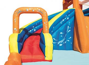 Bestway H2OGO! Wasseroark Turbo Splash, Planschbecken mit Wasserrutsche und Kletterwand, 365x320x275 cm - 82