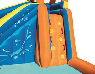 Bestway H2OGO! Wasseroark Turbo Splash, Planschbecken mit Wasserrutsche und Kletterwand, 365x320x275 cm - 83