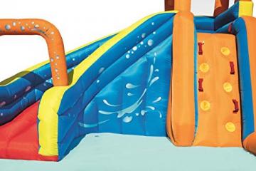 Bestway H2OGO! Wasseroark Turbo Splash, Planschbecken mit Wasserrutsche und Kletterwand, 365x320x275 cm - 84
