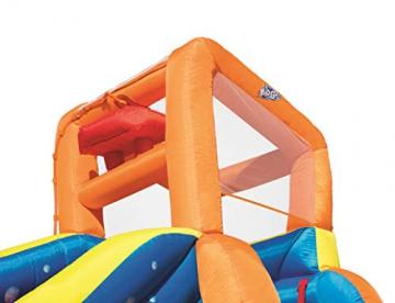 Bestway H2OGO! Wasseroark Turbo Splash, Planschbecken mit Wasserrutsche und Kletterwand, 365x320x275 cm - 85