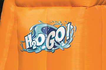 Bestway H2OGO! Wasseroark Turbo Splash, Planschbecken mit Wasserrutsche und Kletterwand, 365x320x275 cm - 88