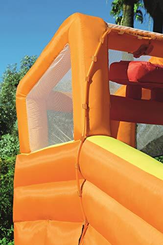 Bestway H2OGO! Wasseroark Turbo Splash, Planschbecken mit Wasserrutsche und Kletterwand, 365x320x275 cm - 91