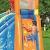 Bestway H2OGO! Wasseroark Turbo Splash, Planschbecken mit Wasserrutsche und Kletterwand, 365x320x275 cm - 93