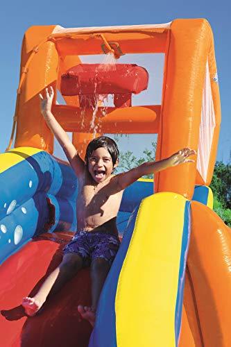 Bestway H2OGO! Wasseroark Turbo Splash, Planschbecken mit Wasserrutsche und Kletterwand, 365x320x275 cm - 94