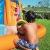 Bestway H2OGO! Wasseroark Turbo Splash, Planschbecken mit Wasserrutsche und Kletterwand, 365x320x275 cm - 97