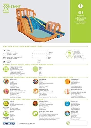 Bestway H2OGO! Wasserpark Hurricane, Planschbecken mit Wasserrutsche und Kletterwand, 420x320x260 cm - 11