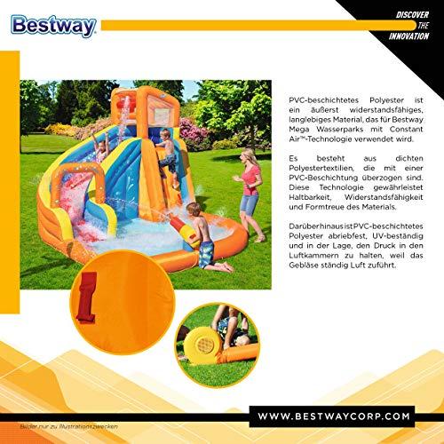 Bestway H2OGO! Wasserpark Hurricane, Planschbecken mit Wasserrutsche und Kletterwand, 420x320x260 cm - 8