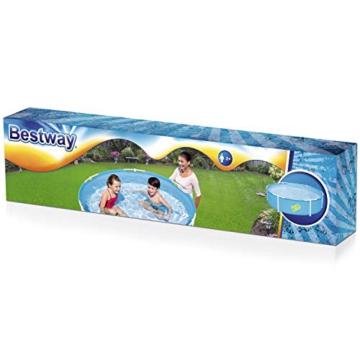 Bestway My First Frame Pool, stabiler und leicht aufbaubarer Kinderpool, 152x152x38 cm - 3