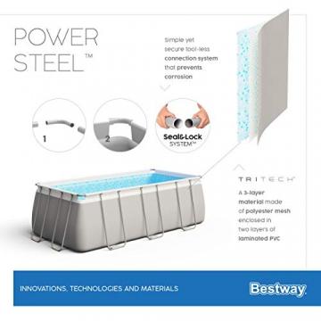 Bestway Power Steel Framepool  Komplett-Set, eckig, mit Sandfilteranlage, Sicherheitsleiter & Abdeckplane 549 x 274 x 122 cm - 13