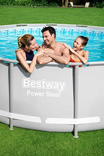 Bestway Power Steel Framepool Komplett-Set, rund, mit Filterpumpe, Sicherheitsleiter & Abdeckplane 488 x 122 cm - 11