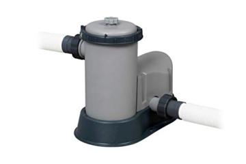 Bestway Power Steel Framepool Komplett-Set, rund, mit Filterpumpe, Sicherheitsleiter & Abdeckplane 488 x 122 cm - 8