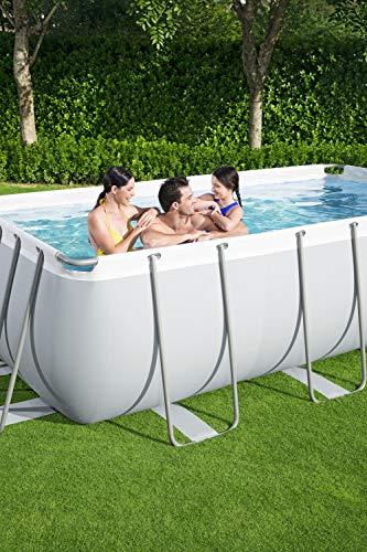 Bestway Power Steel Framepool-Set, eckig, mit Sandfilteranlage & Sicherheitsleiter 404 x 201 x 100 cm Pool, grau - 9