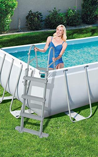 Bestway Power Steel Framepool-Set, eckig, mit Sandfilteranlage & Sicherheitsleiter 404 x 201 x 100 cm Pool, grau - 10