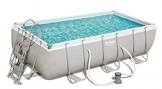 Bestway Power Steel Rectangular Frame Pool Set, Stahlrahmenpool Set mit Filterpumpe, 404 x 201 x 100 cm - 1