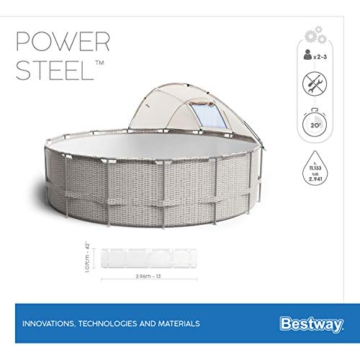 BESTWAY Power Steel Stahlrahmenbecken, beige - 15