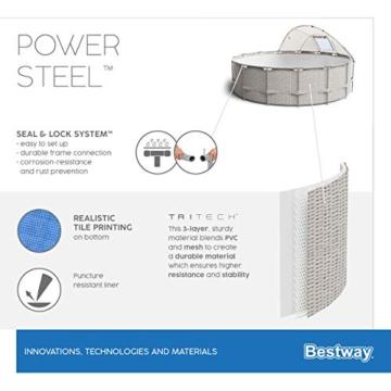 BESTWAY Power Steel Stahlrahmenbecken, beige - 16
