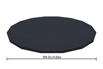 Bestway Power Steel Swim Vista 488x122 cm, Frame Pool rund mit stabilem Stahlrahmen im Komplett-Set, rattan - 11