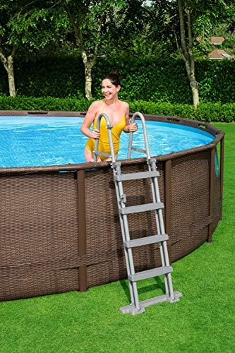 Bestway Power Steel Swim Vista 488x122 cm, Frame Pool rund mit stabilem Stahlrahmen im Komplett-Set, rattan - 8