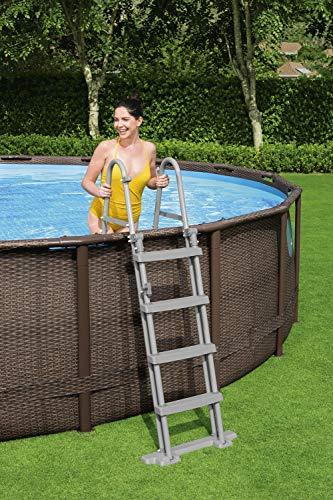 BESTWAY Power Steel Swim Vista Series Stahlrahmenbecken, rattan braun - 12