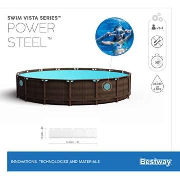 BESTWAY Power Steel Swim Vista Series Stahlrahmenbecken, rattan braun - 15