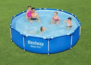 Bestway Steel Pro Frame Pool, 305 x 76 cm, Set mit Filterpumpe, rund, blau - 10
