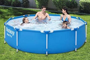 Bestway Steel Pro Frame Pool, 305 x 76 cm, Set mit Filterpumpe, rund, blau - 2