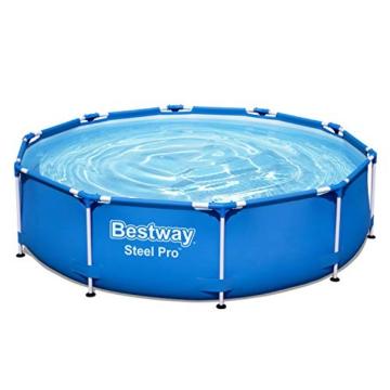 Bestway Steel Pro Frame Pool, 305 x 76 cm, Set mit Filterpumpe, rund, blau - 4