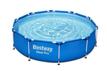 Bestway Steel Pro Frame Pool, 305 x 76 cm, Set mit Filterpumpe, rund, blau - 8