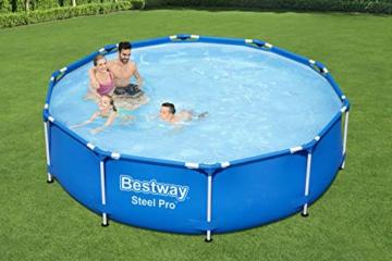 Bestway Steel Pro Frame Pool, 305 x 76 cm, Set mit Filterpumpe, rund, blau - 9