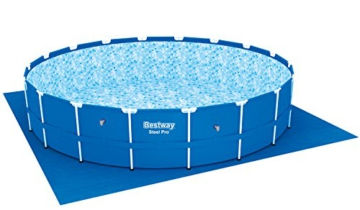Bestway Steel Pro Frame Pool Komplettset rund, mit Kartuschenfilterpumpe, Leiter, Boden- und Abdeckplane, 549x122 cm, blau - 3