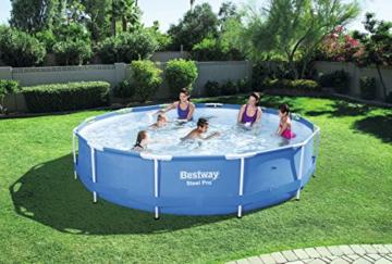 Bestway Steel Pro Frame Pool ohne Pumpe, rund 366x76cm Stahlrahmenpool, blau - 2