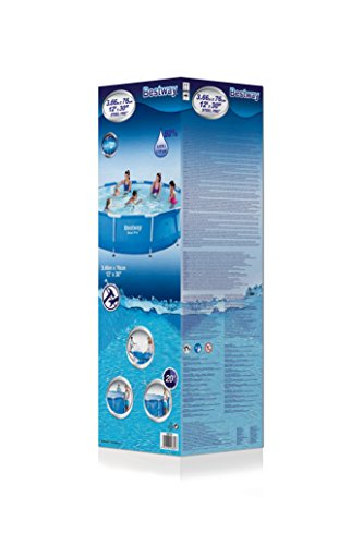 Bestway Steel Pro Frame Pool ohne Pumpe, rund 366x76cm Stahlrahmenpool, blau - 3