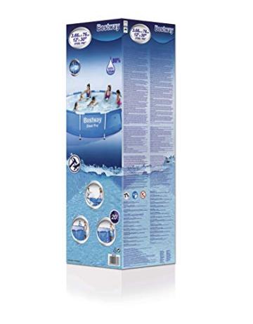 Bestway Steel Pro Frame Pool ohne Pumpe, rund 366x76cm Stahlrahmenpool, blau - 4