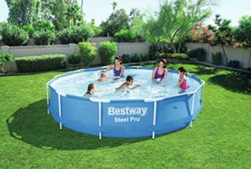 Bestway Steel Pro Frame Pool ohne Pumpe, rund 366x76cm Stahlrahmenpool, blau - 5