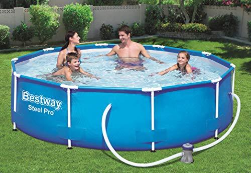Bestway Steel Pro Frame Pool, rund 305x76 cm Stahlrahmenpool-Set mit Filterpumpe, blau - 2