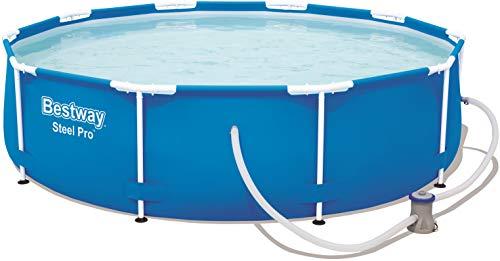 Bestway Steel Pro Frame Pool, rund 305x76 cm Stahlrahmenpool-Set mit Filterpumpe, blau - 1