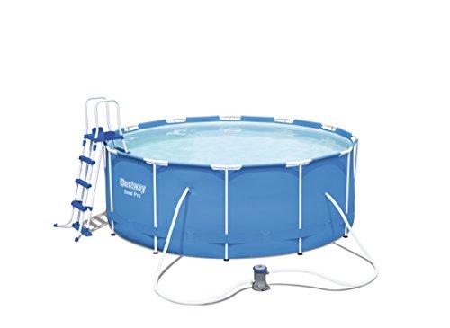 Bestway Steel Pro Frame Pool Set mit Filterpumpe + Zubehör, 366 X 122cm - 1