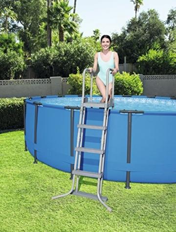 Bestway Steel Pro Frame Pool Set mit Filterpumpe + Zubehör, 366 X 122cm - 7