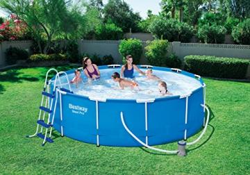Bestway Steel Pro Frame Pool Set rund, mit filterpumpe und Leiter, 366 x 100 cm, blau - 2