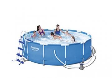 Bestway Steel Pro Frame Pool Set rund, mit filterpumpe und Leiter, 366 x 100 cm, blau - 7