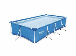 Bestway Steel Pro Frame rechteckig Pool, ohne Pumpe, blau, 400 x 211 x 81 cm - 1