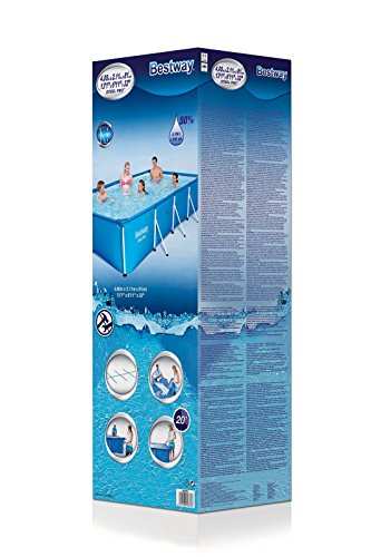 Bestway Steel Pro Frame rechteckig Pool, ohne Pumpe, blau, 400 x 211 x 81 cm - 4