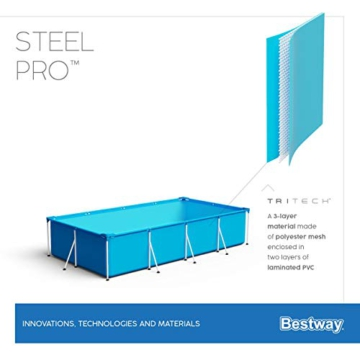 Bestway Steel Pro Framepool ohne Pumpe, eckig, 300 x 201 x 66 cm - 7