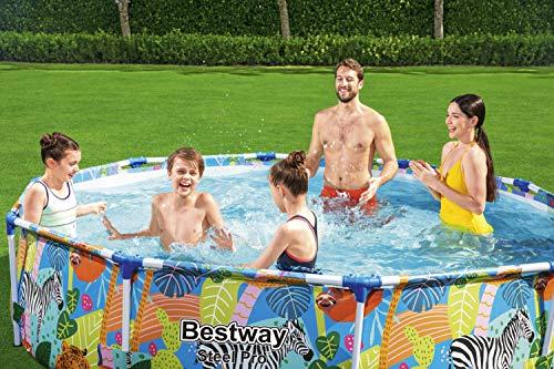 Bestway Steel Pro Framepool ohne Pumpe, rund, 305 x 66 cm Pool, blau - 11