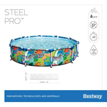 Bestway Steel Pro Framepool ohne Pumpe, rund, 305 x 66 cm Pool, blau - 13