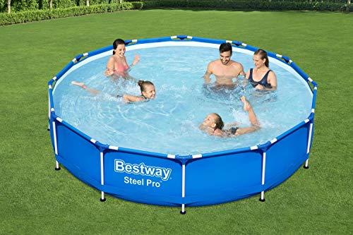 Bestway Steel Pro Framepool ohne Pumpe, rund, 366 x 76 cm Pool, Blau - 2