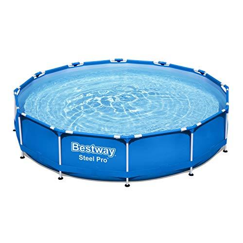 Bestway Steel Pro Framepool ohne Pumpe, rund, 366 x 76 cm Pool, Blau - 4